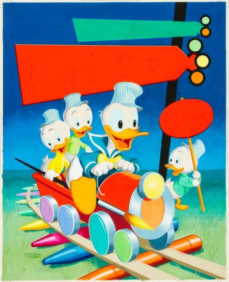 92462: Walt Disney's Donald Duck Coloring Book Cover Pa