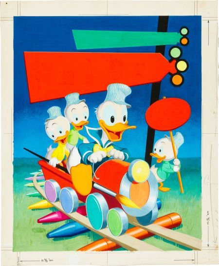 92462: Walt Disney's Donald Duck Coloring Book Cover Pa - 2
