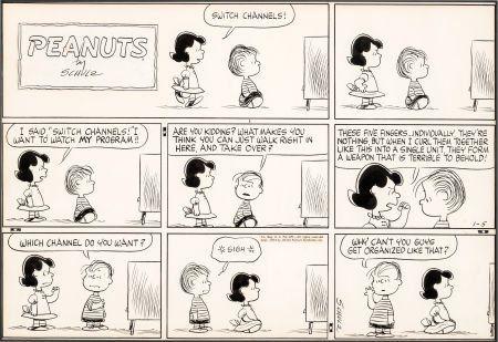 Charles Schulz Peanuts Sunday Comic Strip Origin
