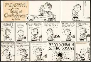 92397: Charles Schulz Peanuts Sunday Comic Strip Origin