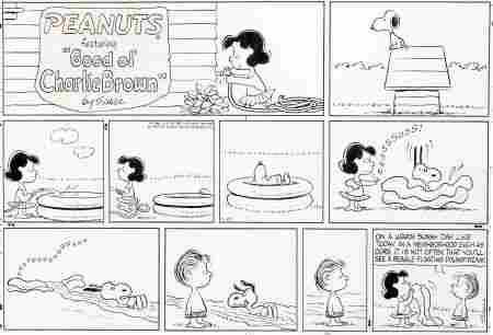 Charles Schulz Peanuts Sunday Comic Strip Snoopy