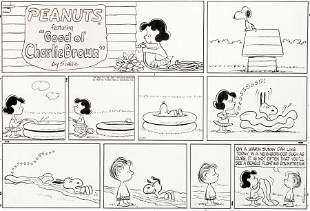 92398: Charles Schulz Peanuts Sunday Comic Strip Snoopy