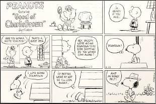 92399: Charles Schulz Peanuts Sunday Comic Strip Origin