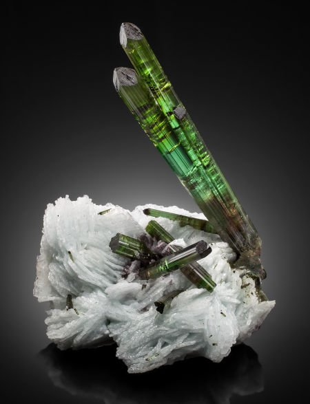 "73114: TOURMALINE on CLEAVELANDITE:  ""BLASTOFF"" Grandon"