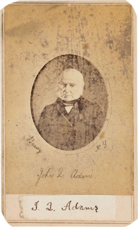 47005: John Quincy Adams Clipped Signature Mounted on a