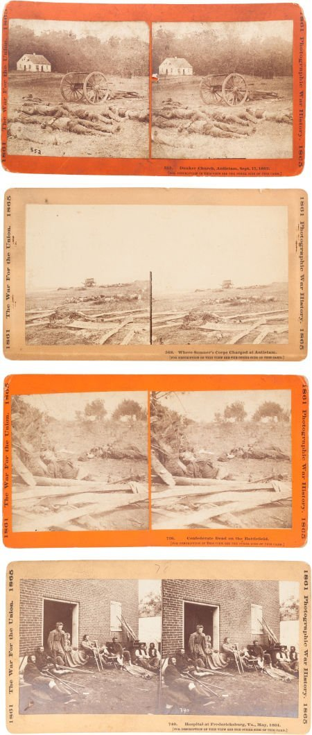 47014: Four Stereo Cards From The War For the Union Ser