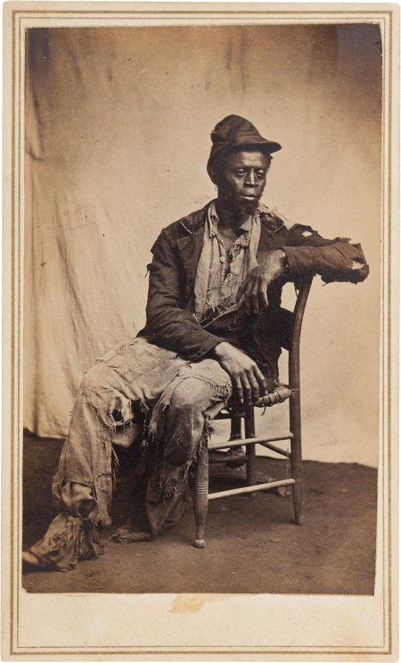 47451: Civil War Period Carte de Visite of an African-A