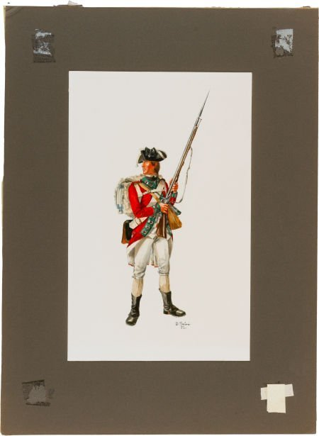 47658: Revolutionary War: Original Signed Don Troiani W