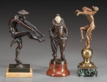62023: THREE CONTINENTAL ART NOUVEAU AND DECO BRONZES C