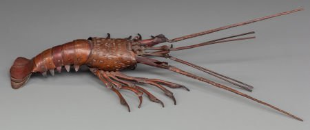 62024: JAPANESE ARTICULATED BRONZE LOBSTER Circa 1900 1
