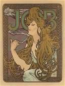 ALPHONSE MUCHA (French, 1860-1939) Job Cigarette