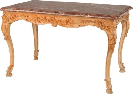 62316: A LOUIS XV-STYLE PROVINCIAL CARVED WOOD TABLE WI