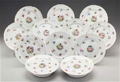 62558: A SET OF TWELVE ENGLISH PORCELAIN COMPOTES, late
