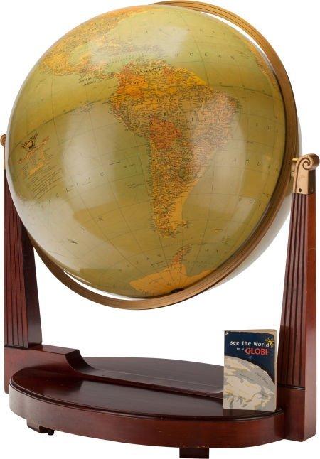 63304: A LARGE REPLOGLE WORLD FLOOR MODEL GLOBE, circa