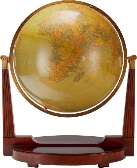 63304: A LARGE REPLOGLE WORLD FLOOR MODEL GLOBE, circa  - 2