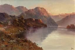 JOHN BATES NOEL (British, 1870-1927) Sunset Rive