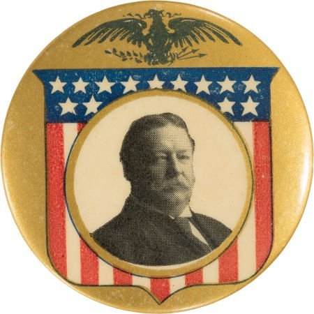 43282: William Howard Taft: Outstanding Picture Pin, in