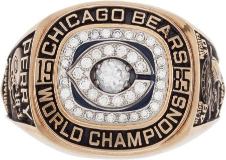 80063: 1985 Chicago Bears Super Bowl XX Championship Ri