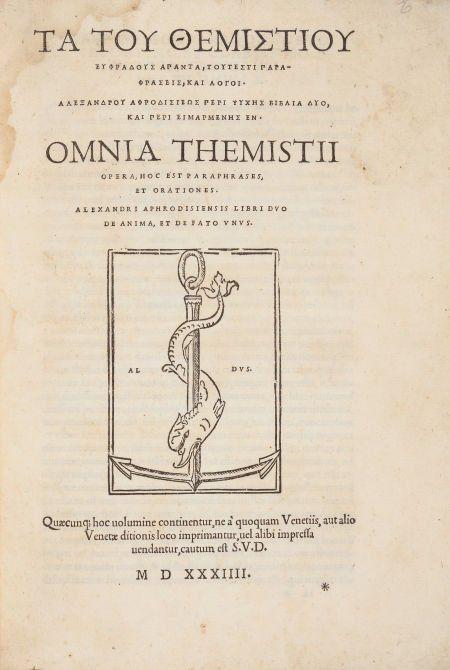 45103: [Aristotle]. Themistius and Alexander of Aphrodi