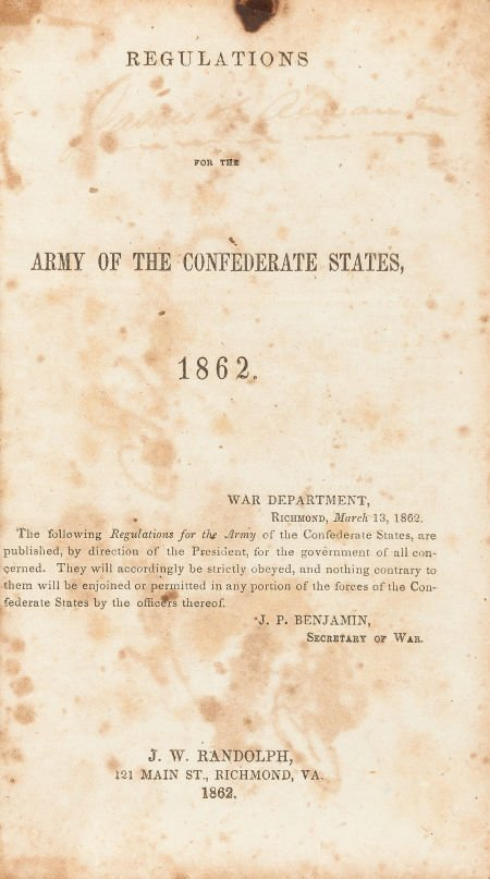 45003: [Confederate Imprint] Regulations for the Army o
