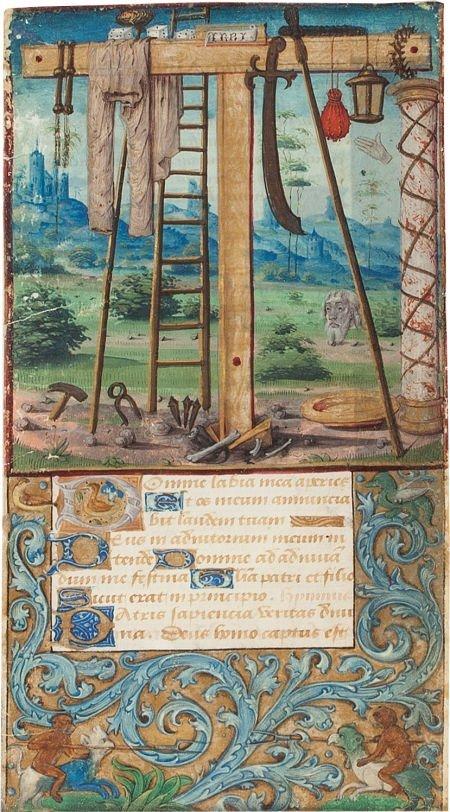 45306: [Illuminated Manuscript] Medieval Miniature on a