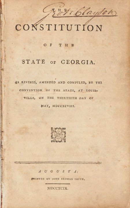 45008: [Georgia] The Constitution of the State of Georg