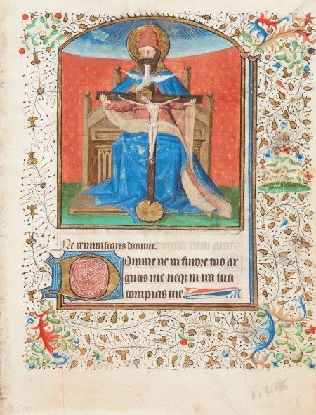 45315: [Illuminated Manuscript] [Medieval Miniature on