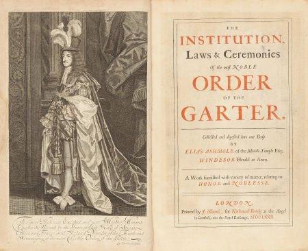 45012: Elias Ashmole. The Institution, Laws & Ceremonie