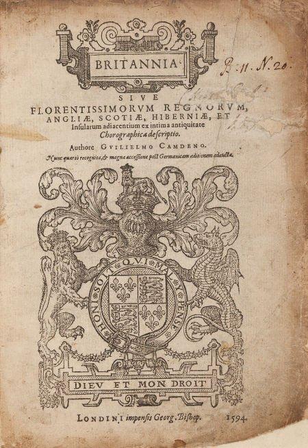 45016: William Camden. Britannia sive Florentissimorum