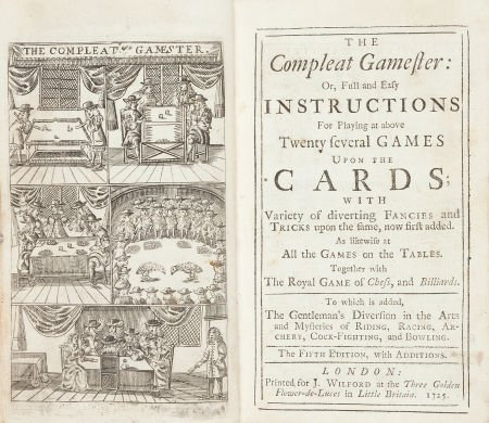 45017: [Charles Cotton]. The Compleat Gamester: Or, Ful