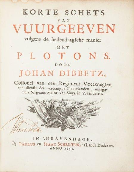 45019: Johan Dibbetz. Korte Schets van Vuurgeeven Volge