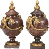 A Pair of French Neoclassical Gilt Bronze Mounte