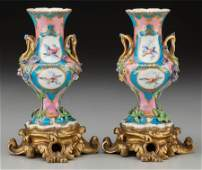 63045 A Pair of Gilt Bronze Mounted Svres Porcelain C