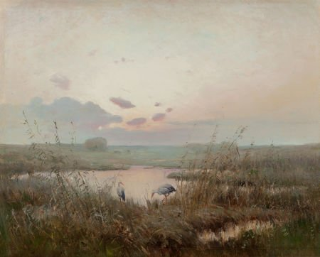 63723: Russian School (Early 20th Century) Marshes at S