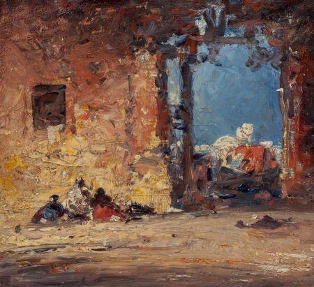 63727: American School (19th Century) Orientalist Scene