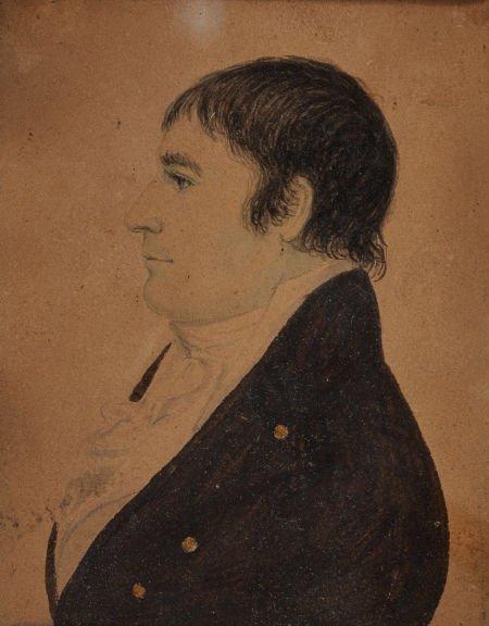 63728: Thomas Birch (American, 1779-1851) Portrait of M