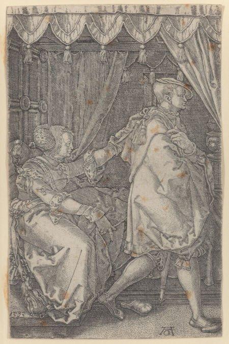 63745: Heinrich Aldegrever (German, 1502-1565) Husband
