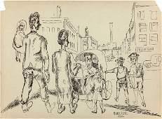 63778: David Burliuk (Ukrainian/American, 1882-1967) 'A