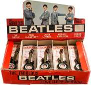 89089: Beatles Guitar Brooches, Complete Set With Origi