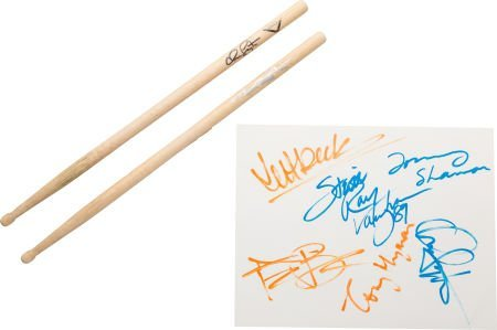 """90508: Stevie Ray Vaughan & Jeff Beck Signatures from """""""