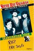 90558: Stevie Ray Vaughan Scandinavian Tour Concert Pos