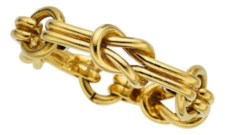 54004: Gold Bracelet  The 18k gold bracelet weighs 143.