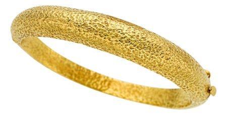 54007: Gold Bracelet, Michalis  The 18k gold hinged ban