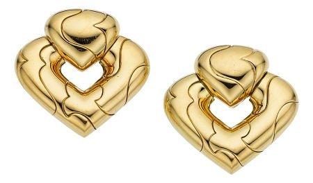 54008: Gold Earrings, Marina B  The 18k gold earrings w