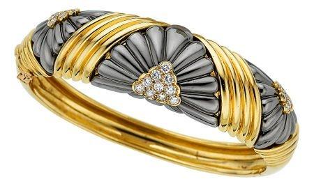 54010: Diamond, Gold, Steel Bracelet, Chaumet  The bang