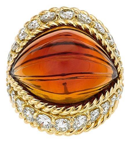 54012: Citrine, Diamond, Gold Ring, Boucheron  The ring