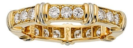 54013: Diamond, Gold Eternity Band, Cartier  The ring f