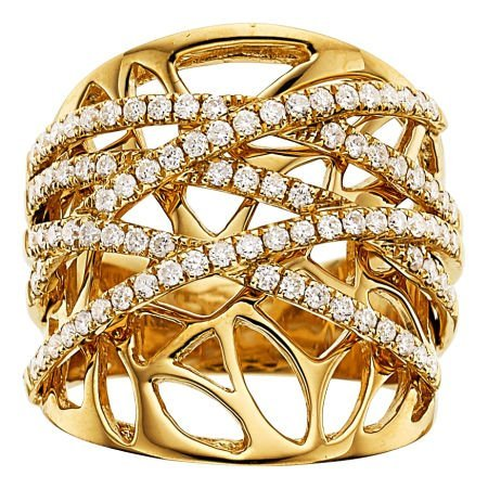 54016: Diamond, Gold Ring  The ring features full-cut d