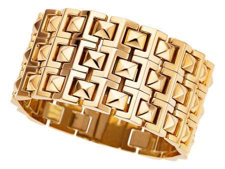 54111: Gold Bracelet, Versace  The 18k gold bracelet we