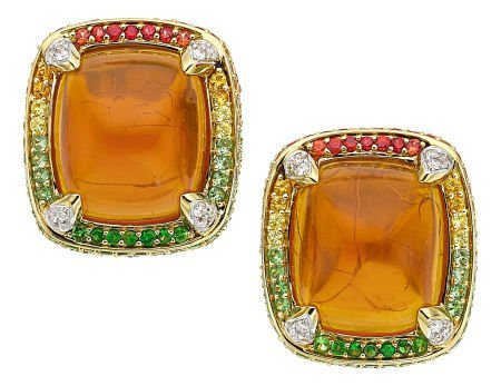54024: Multi-Stone, Diamond, Gold Earrings, Robert Wand